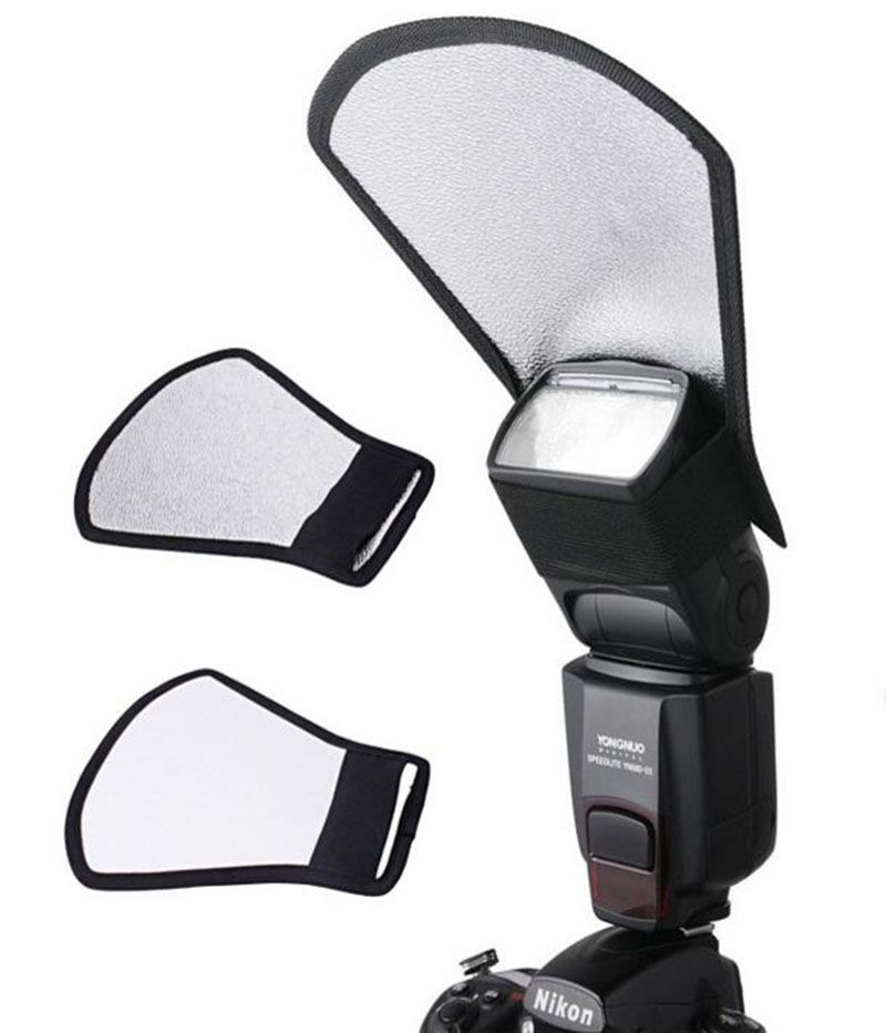 Universal Softbox Flash Diffuser Silver White Reflector for most kinds of DSLR camera Speedlite Photography Studio Accessories