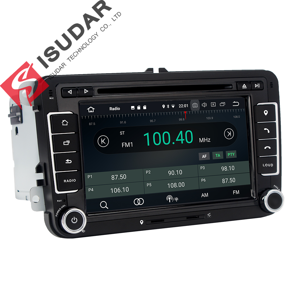 isudar car multimedia player android 7.1.1 gps 2 din autoradio for