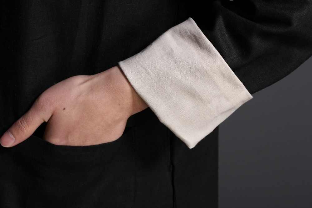 詠春可逆ジャケット服カンフー制服男性繁体字中国語服唐スーツ