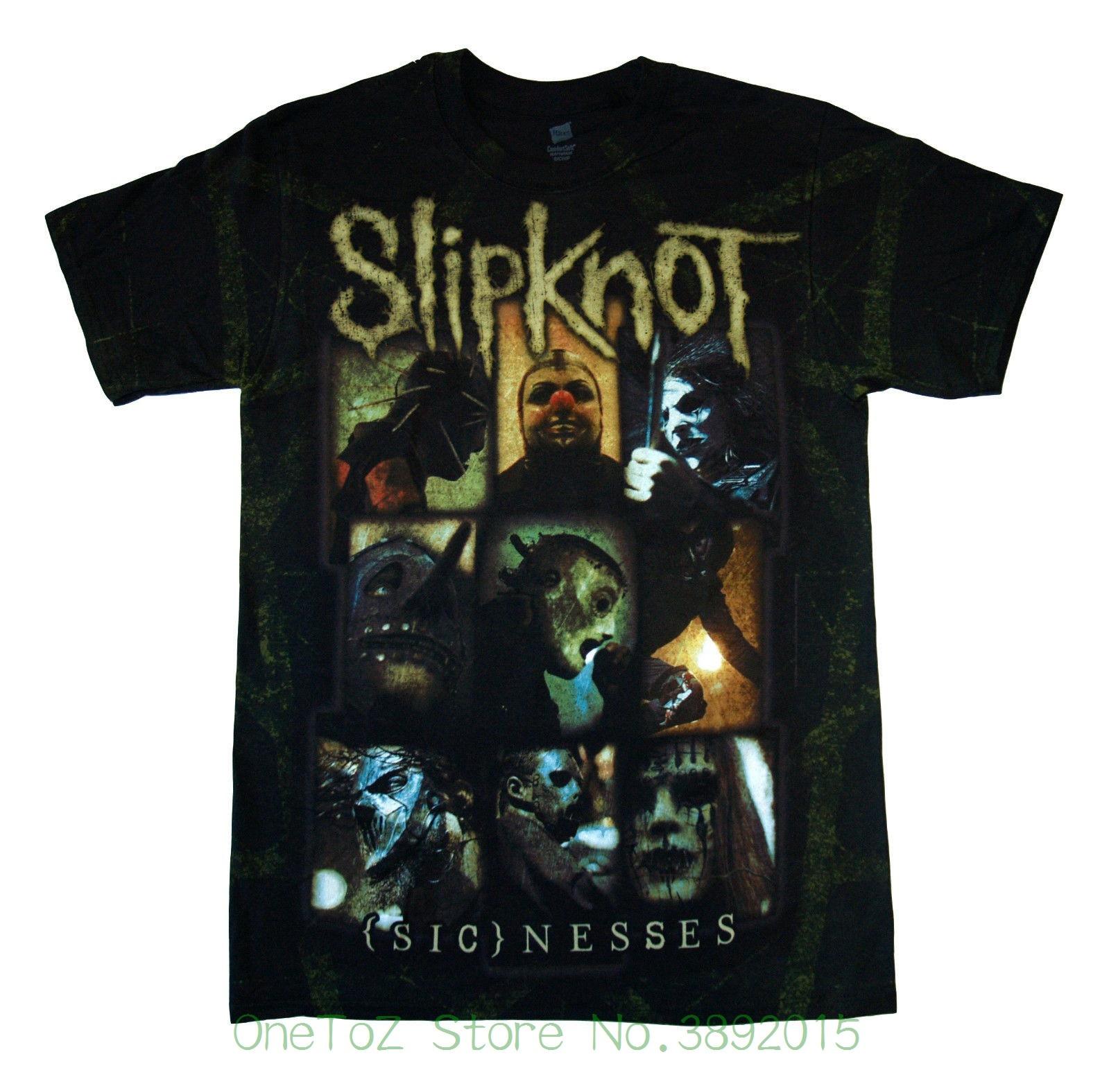 Pre - Cotton Tee Shirt For Men Slipknot - Sickness - T Shirt S , M , L , Xl - 2xl Brand New - Official Merchandise
