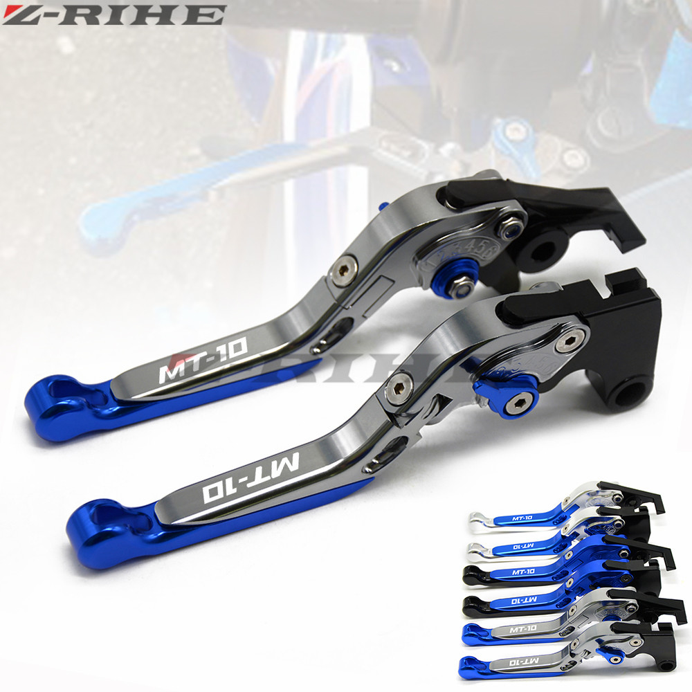 For YAMAHA MT-10 MT 10 FZ-10 FZ10 MT10 2015 2016 2017 Motorcycle Accessories Folding Extendable Brake Clutch Levers LOGO MT-10