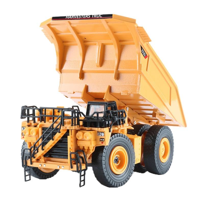 KAIDIWEI 1:75 Mining Truck Toy Alloy Mine Trucks Model Construction Vehicles Toys For Children Loader