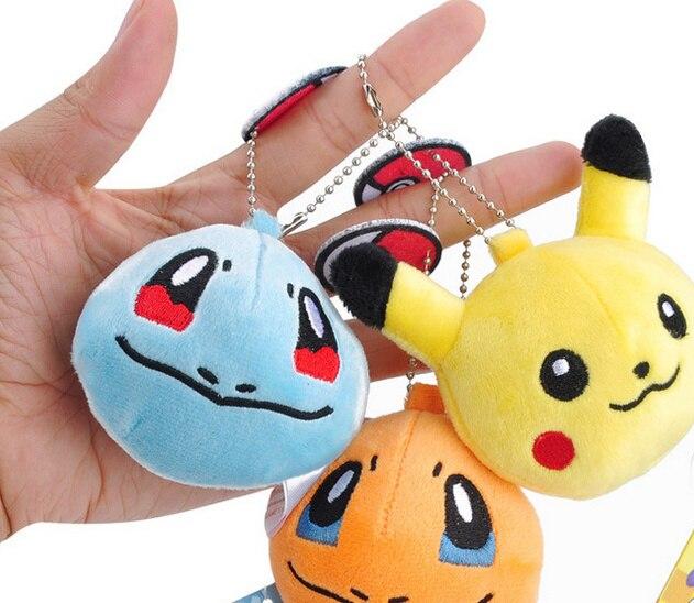 HOT Projetos EM 7 6 CM Aprox. -Pikachu de pelúcia Brinquedo de Pelúcia, Bulbasaur, Squirtle Etc. Delicado chaveiro Dom Boneca de Brinquedo de Pelúcia