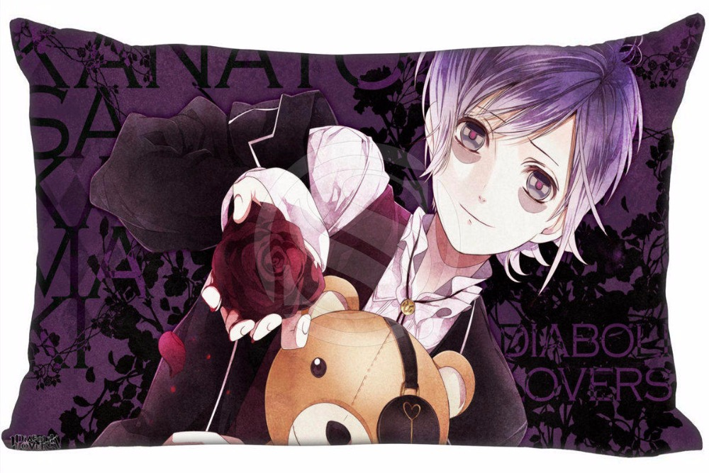 Hot Sale DIABOLIK LOVERS &4 Pillowcase Custom Zippered Rectangle Pillow Cover Cases Size 50x75cm (Two sides) WT#905&Z20