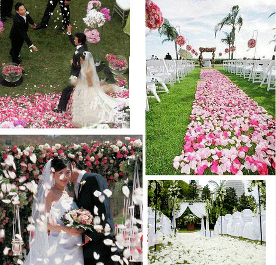 Artificial Petal 1000pcs Silk Rose Flower Petals Wedding Decorations Party Festival Table Confetti Decor 13 Color In Dried Flowers From