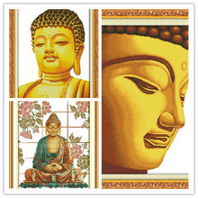 Cross Stitching Buddha 11CT DIY Needlework Free DMC Counted Cross