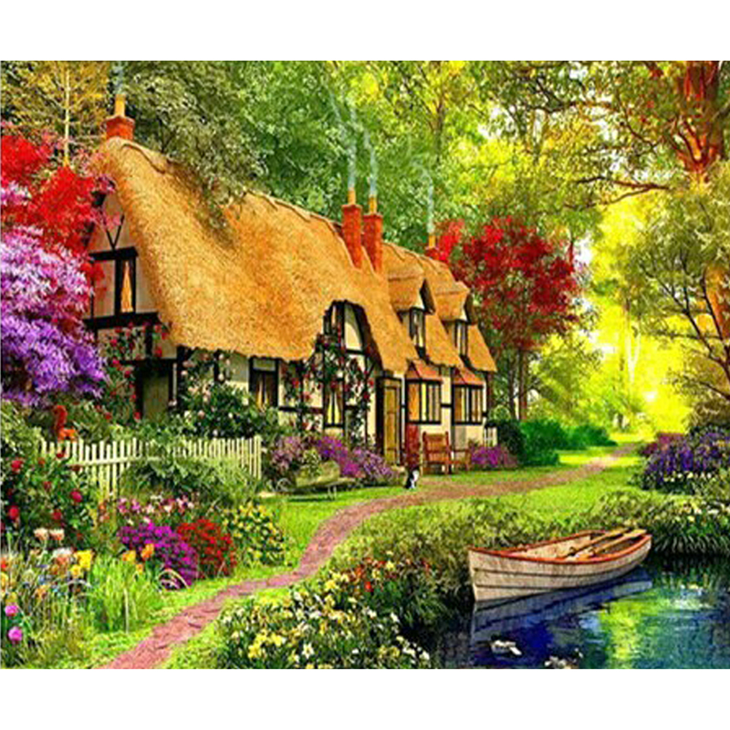 Diamond embroidery mosaic 3D Diy diamond paintings drill rhinestone Hand made needlework By numbers Pastoral life pictures zx