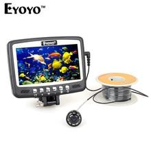 "Eyoyo Original 30M 1000TVL Underwater Camera Ice/Sea/Boat Fishing Finder Video Recording DVR 4.3"" Monitor 8pcs Infrared IR LED"