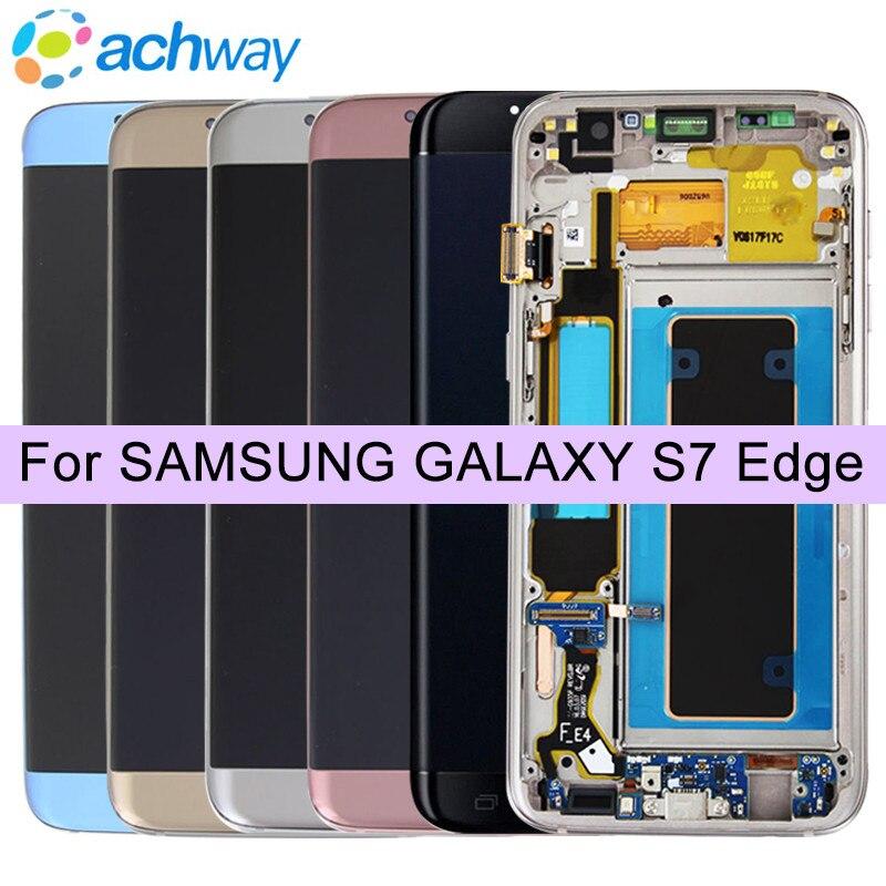 100% Testé Pour SAMSUNG S6 bord G925 G925F LCD Affichage à L'écran Tactile Digitizer Assemblée Pour GALAXY S7 bord G935 G935F LCD Affichage