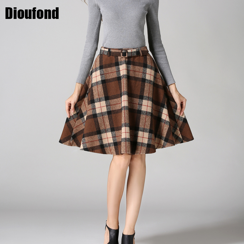Popular Pleated Check Skirt-Buy Cheap Pleated Check Skirt lots ...