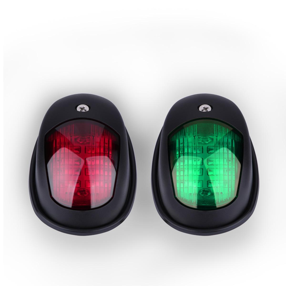 2pcs Dc 12 24v Navigation Light Green And Red Marine Led