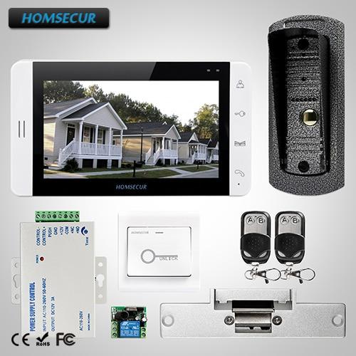 HOMSECUR 7 Video&Audio Smart Doorbell+Dual-way Intercom for House/Flat 1C1M+ L1 : TC041 Camera + TM703-W Monitor (White) + LockHOMSECUR 7 Video&Audio Smart Doorbell+Dual-way Intercom for House/Flat 1C1M+ L1 : TC041 Camera + TM703-W Monitor (White) + Lock
