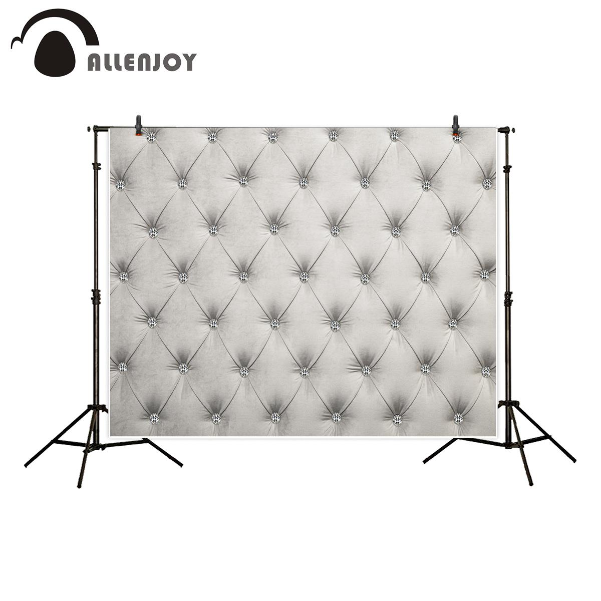 Allenjoy backgrounds for photo studio diamond tuft luxury headboard backdrop photocall new photobooth customize photographic
