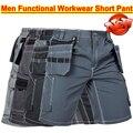 2016 Nova chegada dos homens de Alta Qualidade funcional ferramenta multi bolso da calça de trabalho curto calça calças curtas
