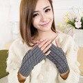 Keeping Warmer Gloves Ladies Computer Mittens Winter Knitted Hands Fingerless Gants Womens Wrist Soft Warm Girls Mitten *E.7
