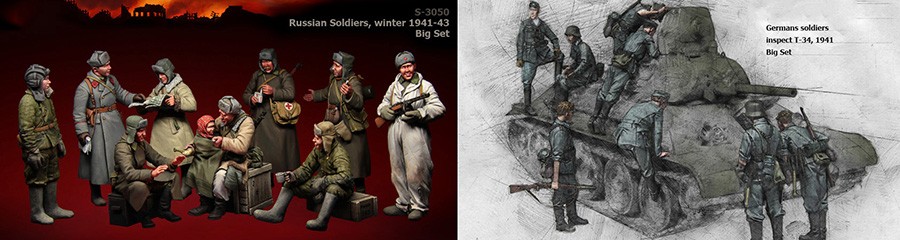 Assembly Unpainted Scale 1/35 German Soldier inspect and Russian Soldiers figure Historical WWII Resin Model Miniature Kit scale models 1 16 120mm soviet scout soldier ww2 120mm figure historical wwii resin model free shipping