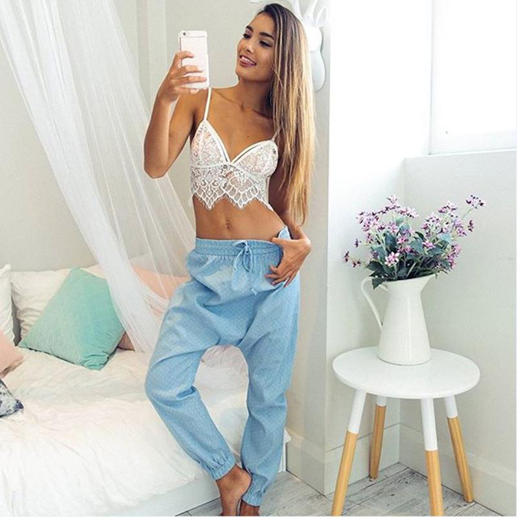 e4fe1b8eefa367 Elegant white lace crop top Summer beach backless short halter tops Sexy  white party camis gauze metallic women tank top-in Camis from Women s  Clothing on ...
