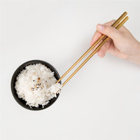 4pcs/Set Dinner Meal Chopsticks Food Grade Stainless Steel Chopsticks Tableware Tool Chinese Chopsticks Culture