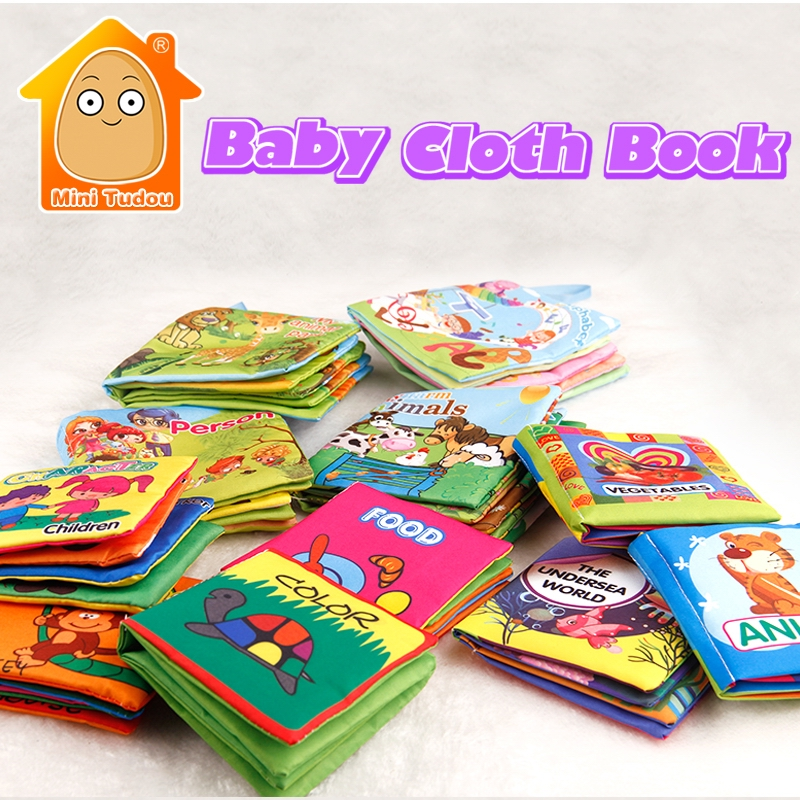 Baby Activity Fabric Cloth Books 0-12 Months Baby Soft Quite Book Animal Educational Toy Early Learning Book For Kids