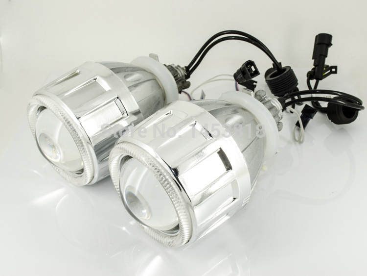 2.5HQ Hot Sale 2.5'' inch Auto HID Bixenon Lens Projector H7 H4 H1 9005 9006 8000K 6000K 4300K White Blue Red Yellow Angel Eyes auto motorcycle 35w 2 inch hid bixenon projector lens headlight kit 6000k 4300k blue green red yellow white ccfl angel eye