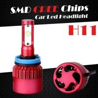 Oslamp 6500K SMD CREE Chips H11 Car Led Headlight Kits Single Beam Auto Styling SUV Head
