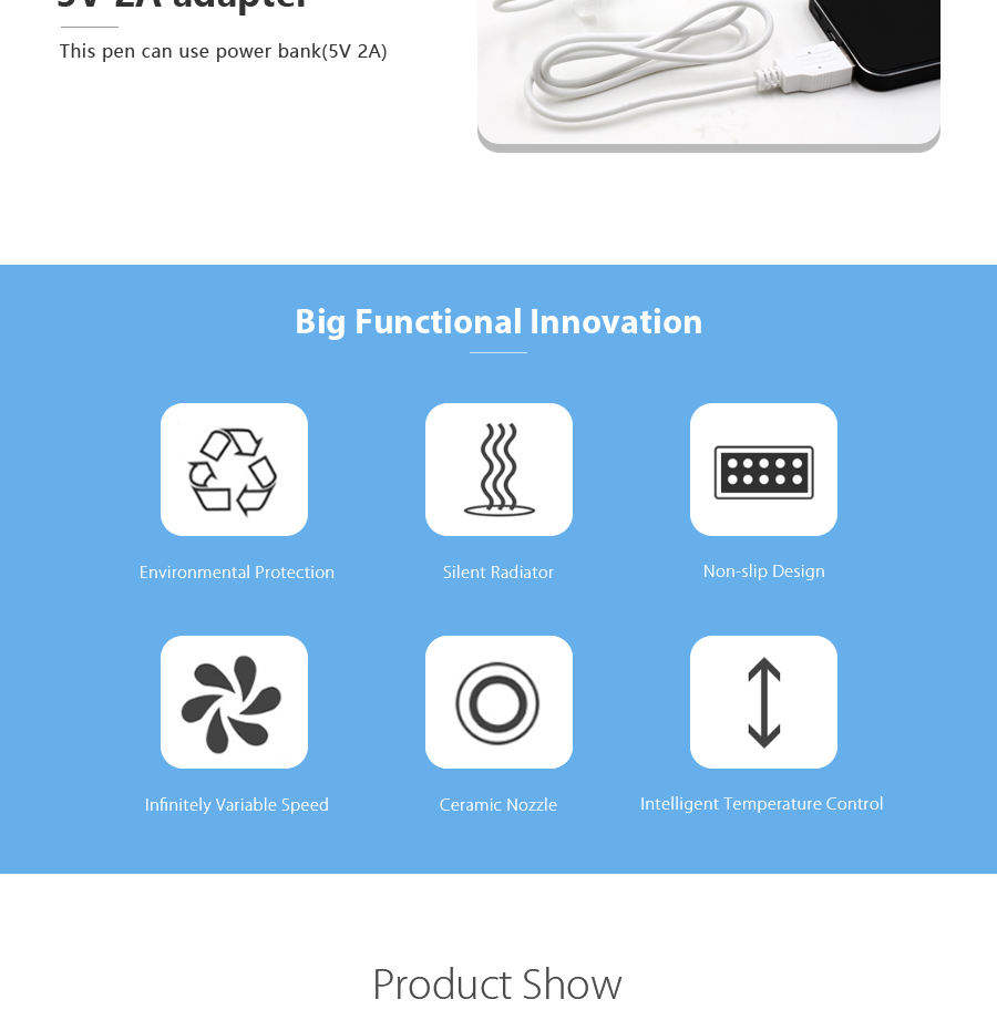 Creative 3D Pen With Ventilation And LCD Display Best Gift For Kids And Adult