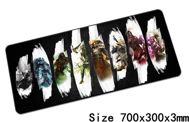 guild wars 2 mouse pad 700x300x3mm pad mouse notbook computer padmouse Popular gaming mousepad gamer to keyboard mouse mats