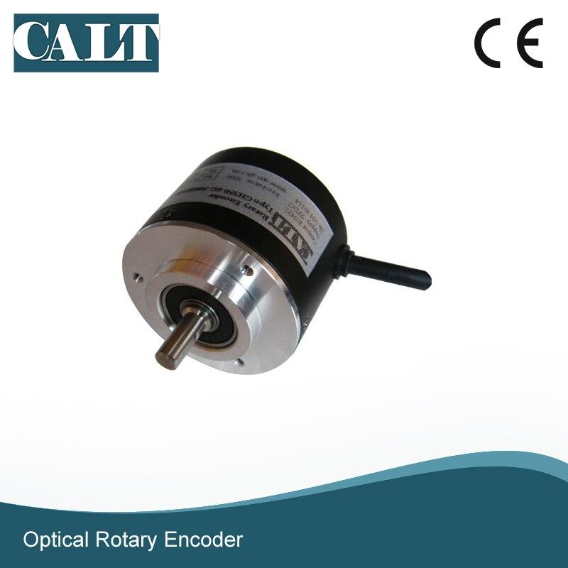 Оптовая продажа 3600ppr Оптический цифровой кодер мм Высокий импульс 52 мм 5000 сенсор PNP выход линейный домашний поворотный кодер