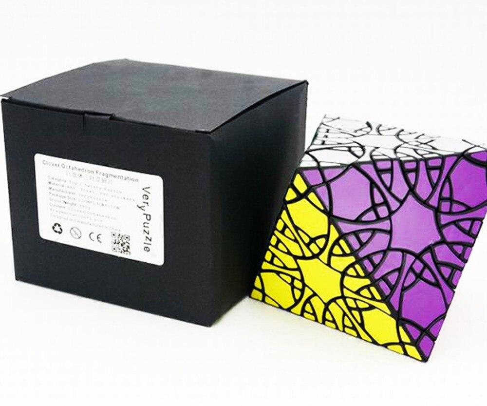 Verypuzzle Trèfle Octaèdre Fragmention cube magique Jouets Éducatifs Cube Magique