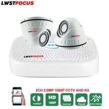 LWSTFOCUS 4CH AHD DVR Security CCTV System 20M IR 2PCS 1080P CCTV Camera Waterproof Dome Camera Home Video Surveillance Kit