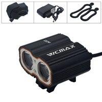 새로운 VICMAX A22 XM-L T6 LED 자전거 자전거 자전거 라이트 헤드 전면 조명 플래시 라이트 + 배터리 팩 + 충전
