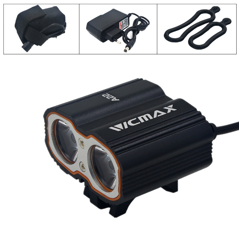 New VICMAX A22 XM-L T6 LED Cycling Bike Bicycle Light Head front Lights flash light + Battery Pack + Charger 30000lm 14x xml t6 led head front bycicle lights bike light head light headlamp battery pack tail light