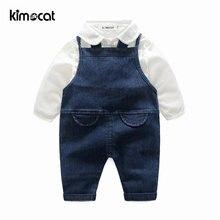 Kimocat одежда для маленьких мальчиков 2 шт рубашка + подтяжки
