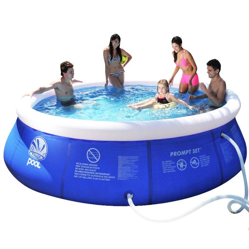 Filet bébé-clip piscine enfants et famille piscine ronde haut anneau gonflable piscine Super épaisse