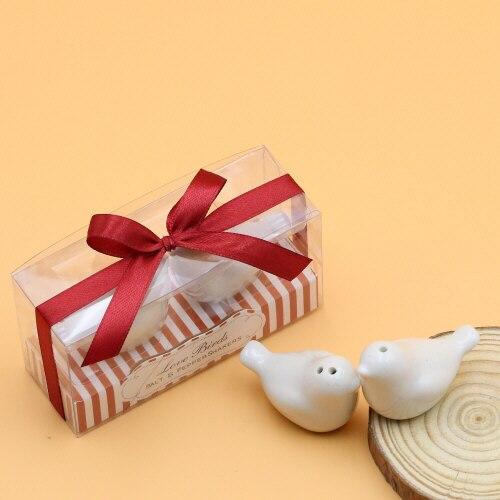 Free Shipping 40pcs lot 20sets lot Christmas Gift Love bird Salt and Pepper Shakers Wedding Souvenir