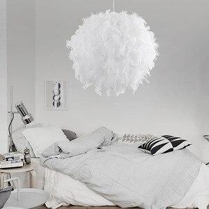 Image 5 - Ładny wisiorek z piórkiem światła Droplights Kids Room wisząca lampa Crystal zawieszenie w sypialni ślub oprawa oświetleniowa do sypialni