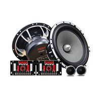 6.5inch component car speakers with 25mm asv transparent silk dome tweeter mid bass treble car sound upgrade system 360W