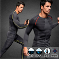 tops + pants / Europe's compression Men's quick-drying breathable Long Johns sets Body Shapers
