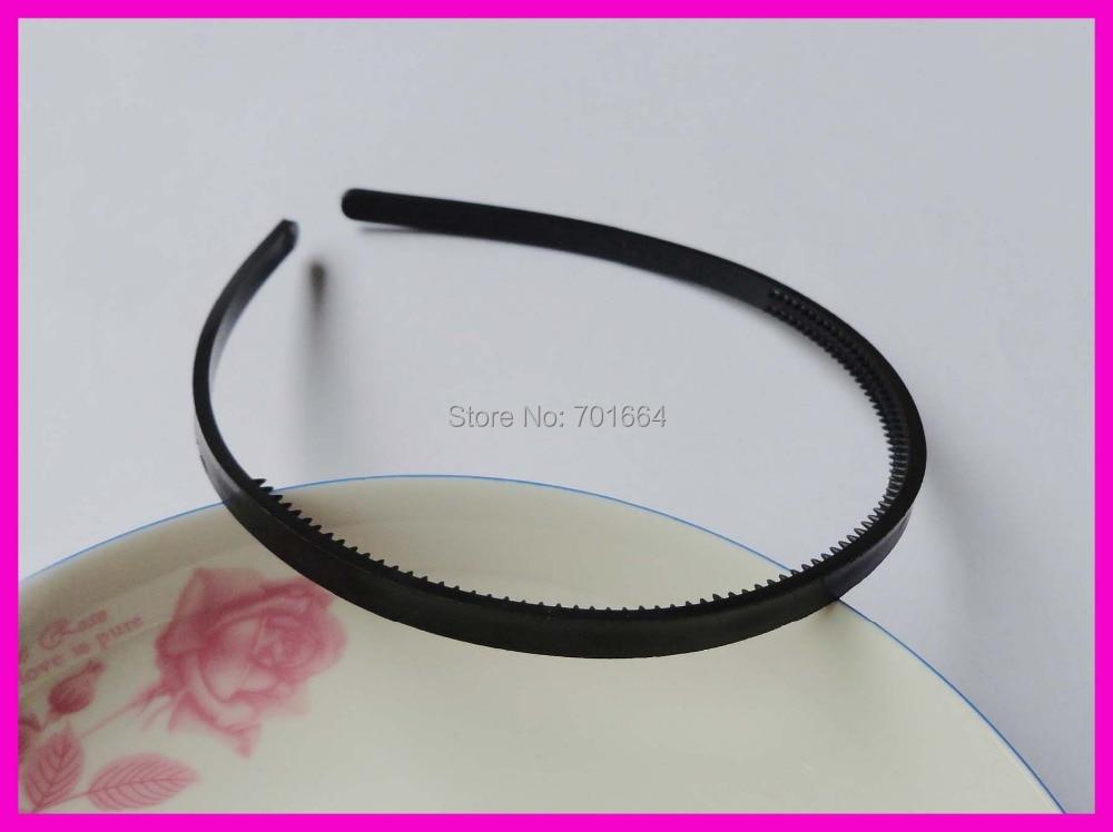 """20 шт 7 мм 1/"""" черные простые пластиковые повязки для волос с двумя рядами зубов для DIY ювелирных изделий для волос, выгодная покупка оптом"""
