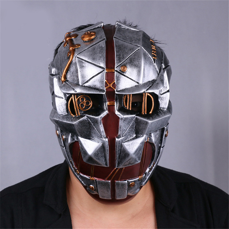 Takerlama Hot Game Dishonored Helmet Wearable Masks Cosplay Corvo Attano Mask Halloween Party Props