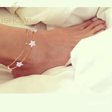 Fine Jewelry Woman Ankle Bracelet  Foot Jewelry Accessories Pulseras Joyas Tobilleras STAR Anklets Silver Chain Bracelet Boho