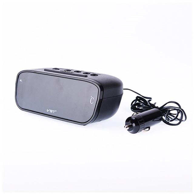 Tela grande display LED de alarme de carro relógio carro carro de automóveis de passageiros red LED backlit de visualização do carro relógio termômetro eletrônico
