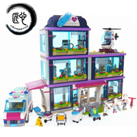Friends Girl Series 01039 Compatible legoing 41318 toy Building Blocks toys Heartlake Hospital kids Toys Bricks girl gifts