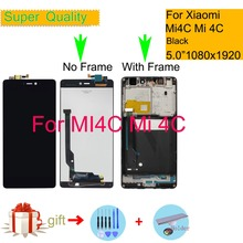 ORIGINAL For Xiaomi Mi 4C Mi4C LCD Display Touch Screen Digitizer Sensor Pantalla monitor Mi4c LCD Assembly Complete With Frame цена