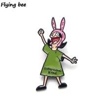Flyingbee Bob's Burgers Brooch…