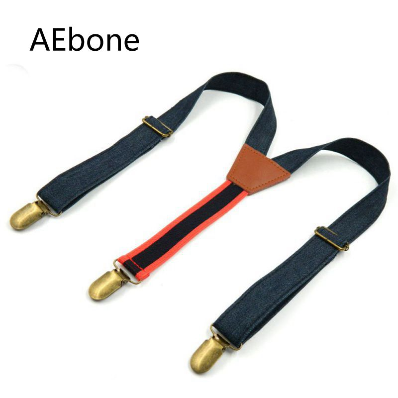 AEbone Fashion Blue Jeans Suspensorio For Boy Vintage Old Suspenders Children Bretelles Pant Brace Sus23
