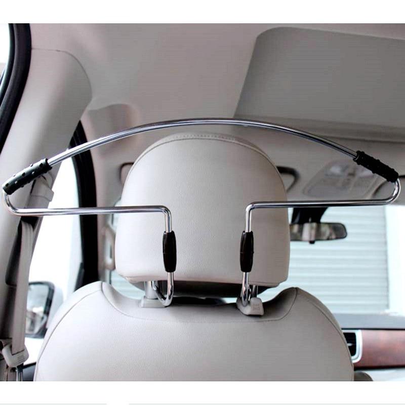 Stainless Steel + Anti Slip Rubber + Metal Seat Headrest Pillar Coat Hanger Frame Car Styling Functional Storage Accessories|accessories accessories|accessories storage|accessories hanger - title=