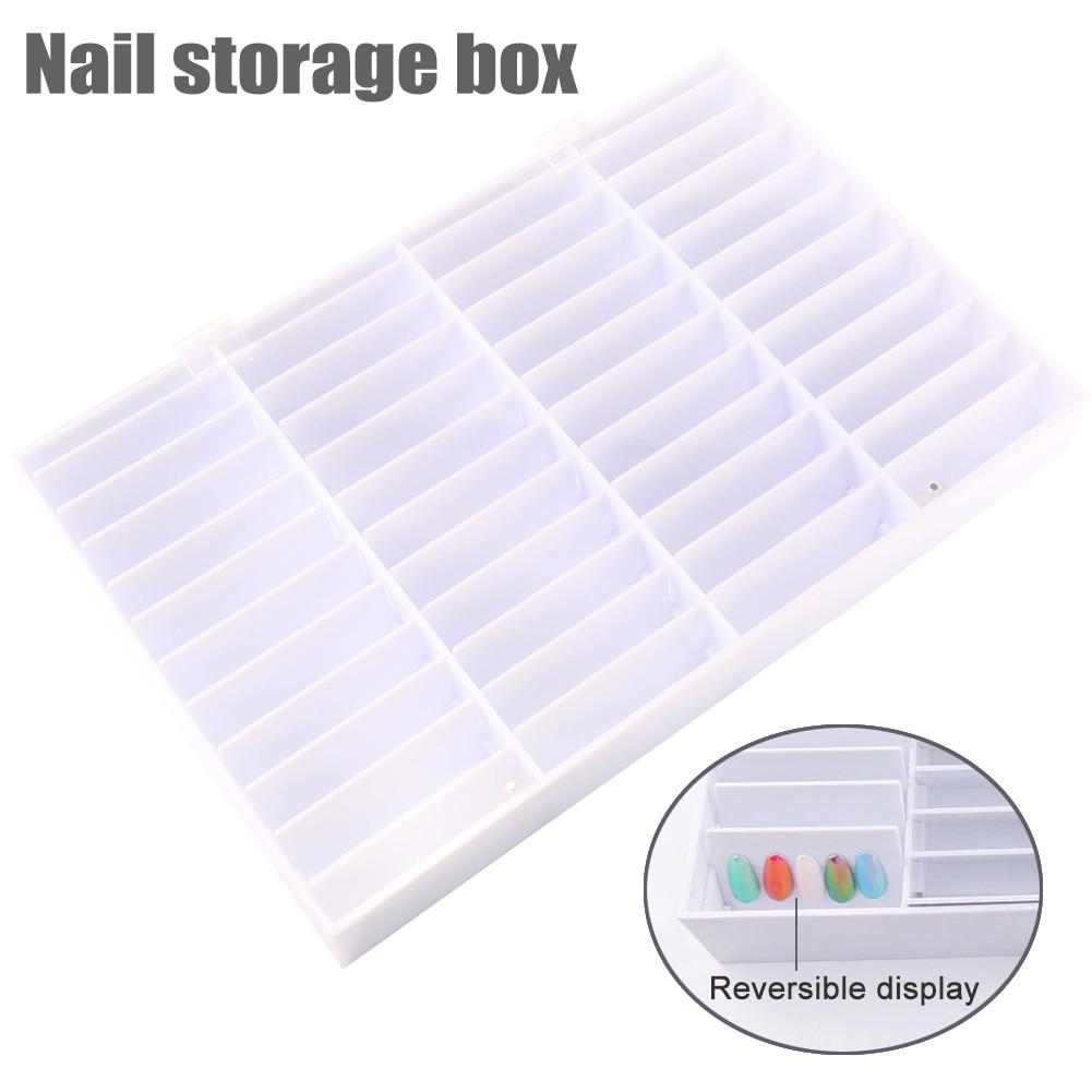 Fake Nail Tips Storage Box 44 Compartments Nail Art Decoration Container False Nail Display Case Fake Nail Showing Box