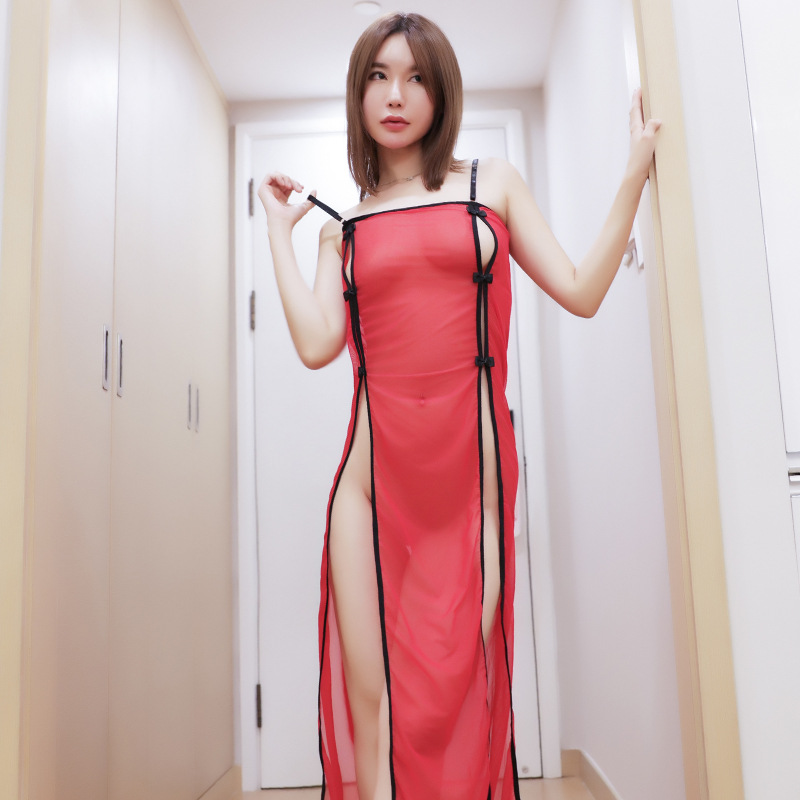 a673113d3a6 Detail Feedback Questions about 2019 New Women Sexy Open Dress Side Slit  Erotic Transparent Dresses See Through Sexy Night Club Hot Sexy Party  Costumes ...