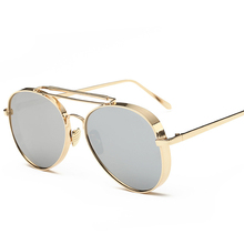 2017 Aviator Sunglasses Women Brand Designer UV400 Shades Golden ladies Eyewear Female Metal frame pilot